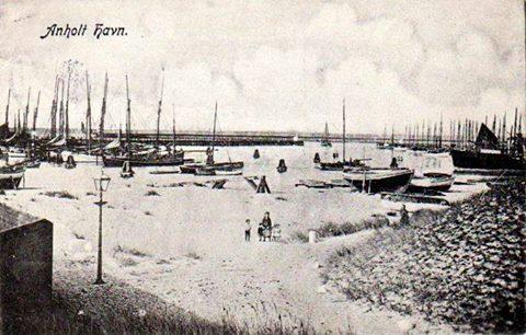 Anholt Havn vinter 1908